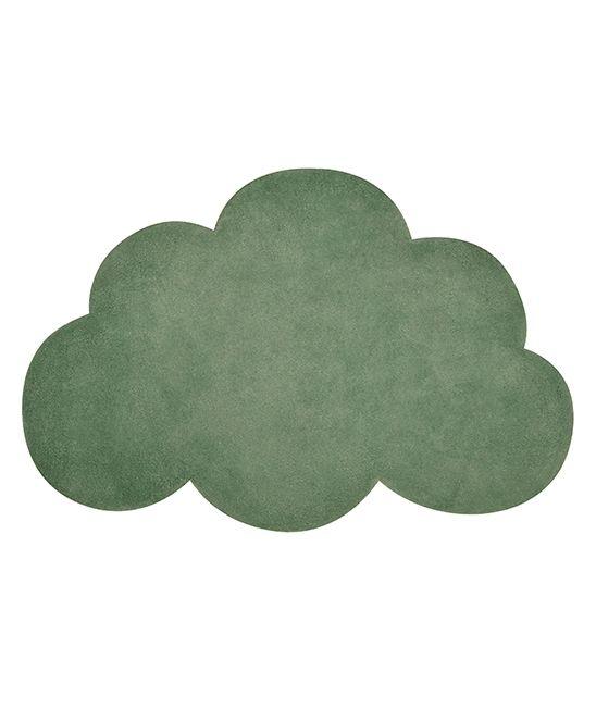 tapis enfant nuage vert foncé