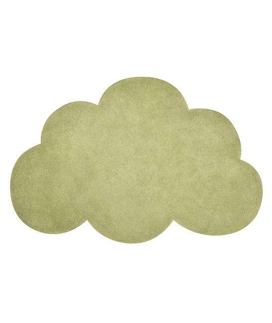 tapis enfant nuage palm green