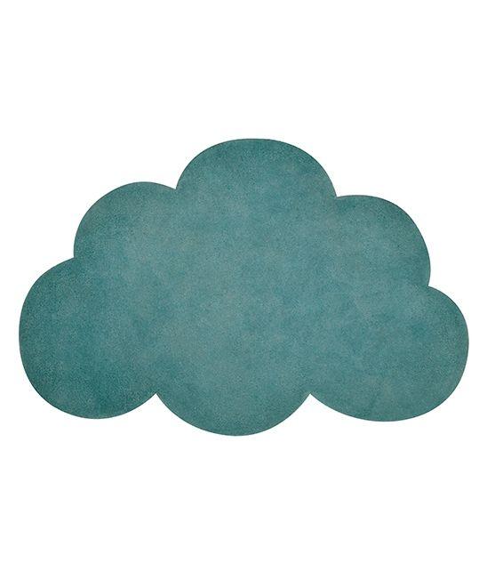 tapis enfant nuage vert