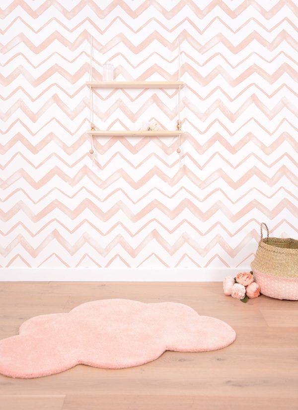 tapis enfant nuage abricot