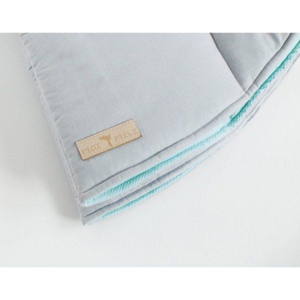 tapis coton réversible gris / mint