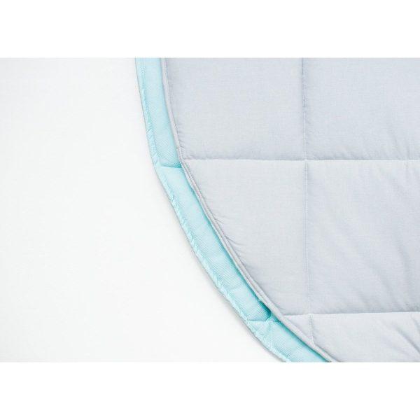 tapis matelassé gris / mint