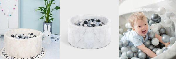 bannière piscine à balles velvel Misioo effet marbre