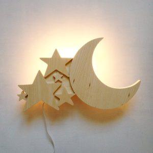 Luminaire bois Lune