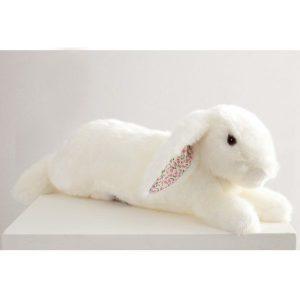 martin le lapin grand modèle blanc liberty rose