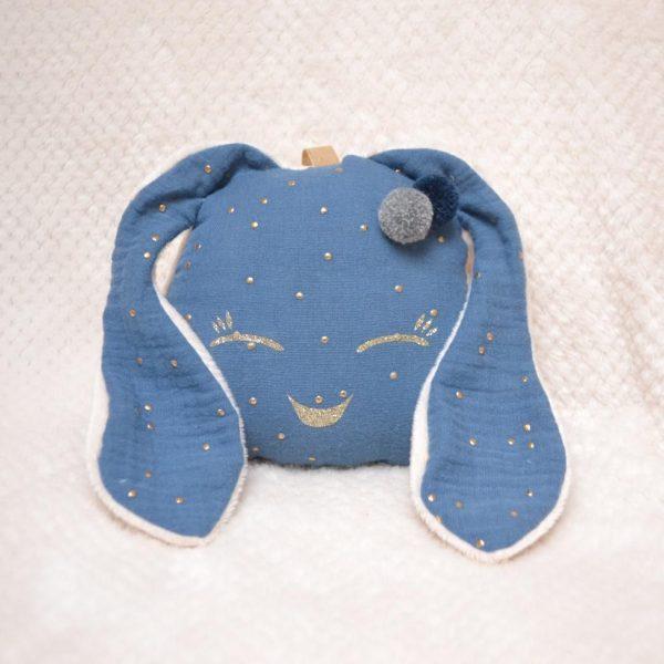 doudou lapinou bleu