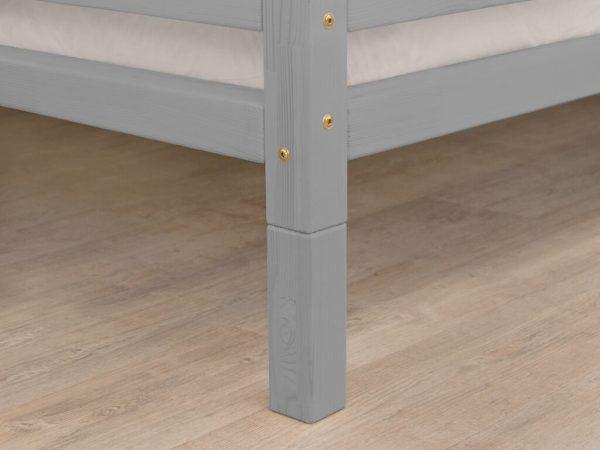 pieds pour lit cabane tery gris