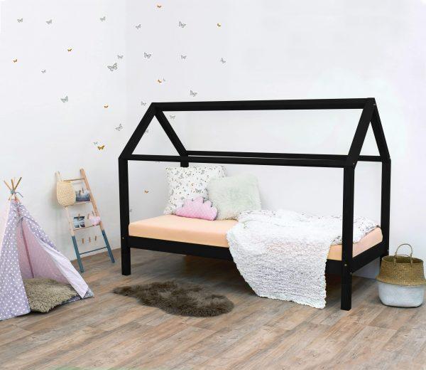 lit cabane enfant TERY noir