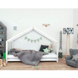 lit cabane montessori ouvert sur le côté blanc Lucky