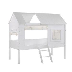lit cabane enfant blanc