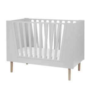 lit bébé gris