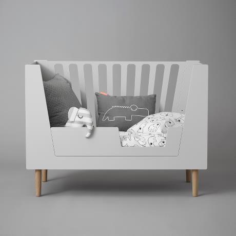 lit évolutif bébé gris