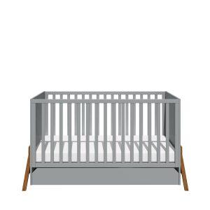 lit bébé évolutif gris