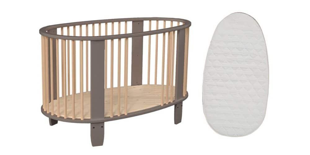 lit bébé Oeuf Songes et Rigolades avec le Matelas