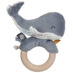 Hochet anneau Baleine Ocean Blue Little Dutch