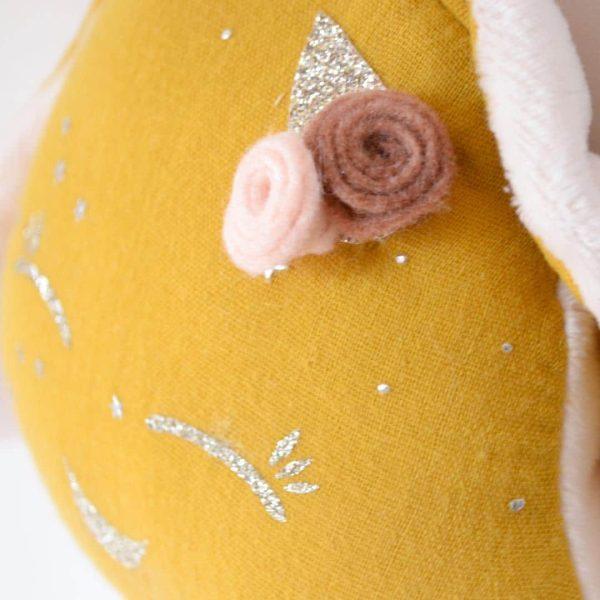 doudou lapin moutarde