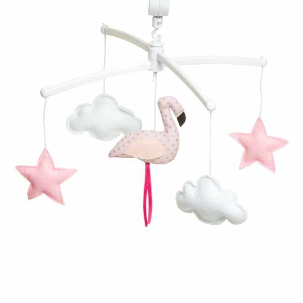mobile-musical-flamand-rose-pastel