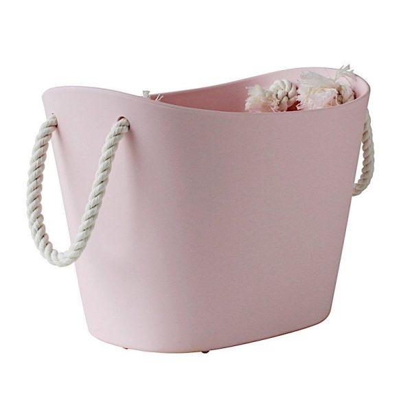 bac de rangement mini rose