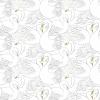 papier peint motif cygnes