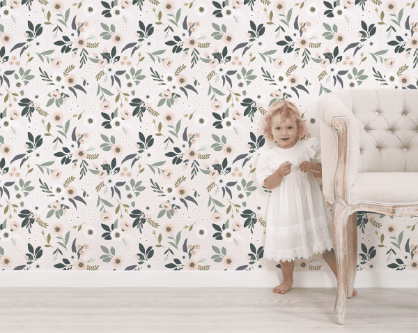 papier peint enfant motif floral