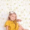 papier peint fleurs dorées