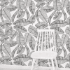 papier peint motif feuillage tropical