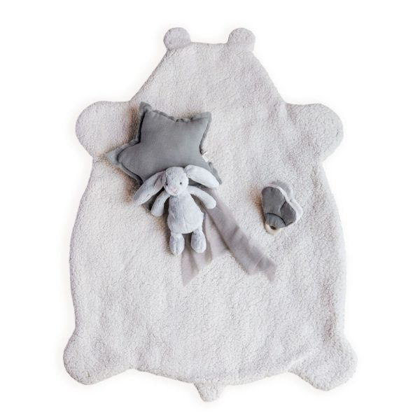 plaid tapis bébé en mouton