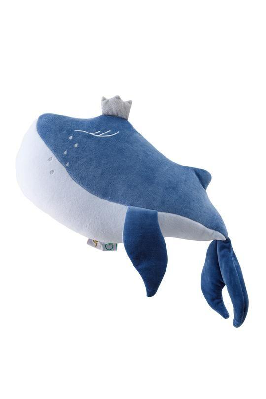 peluche baleine bleue