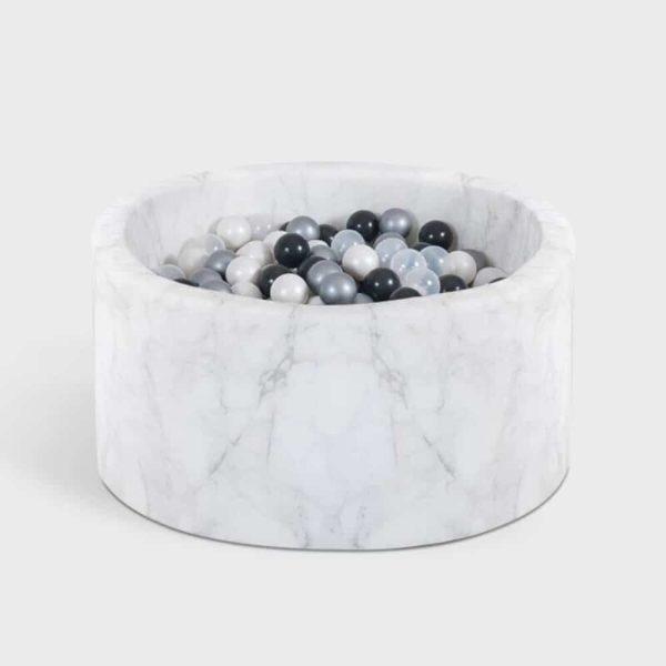 Piscine à balles Velvelt Misioo effet velours et marbre