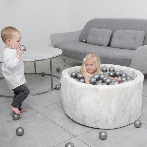 Piscine à balles Velvelt Misioo gris marbre