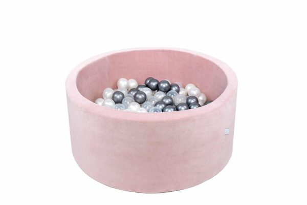 piscine à balles ronde rose