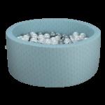 Piscine ronde à balles Graphic vert de gris