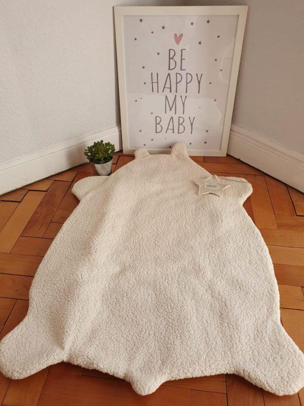 plaid bébé en mouton