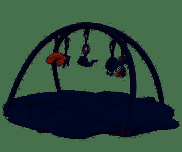 tapis d'activités bébé coquille ocean blue little dutch