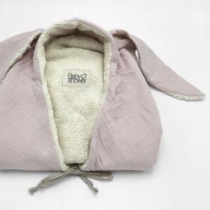 sorite de bain oreilles de lapin rose