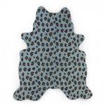 tapis chambre enfant léopard bleu