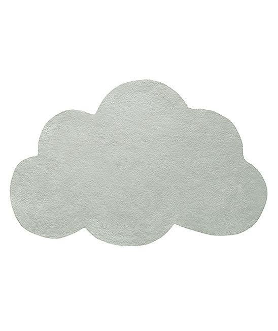 tapis chambre enfant forme nuage vert de gris lilipinso