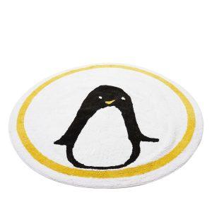 Tapis rond motif Pingouin