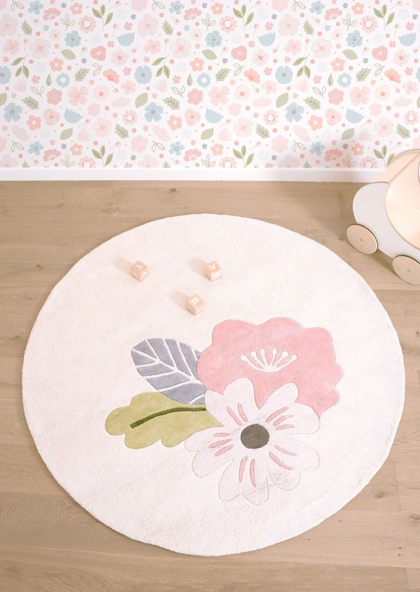 tapis rond coton chambre fille