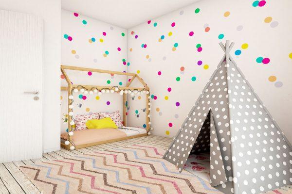 tapis coton zigzag chambre enfant