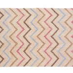 tapis coton motif Zigzag