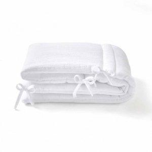 tour de lit gaze de coton blanc