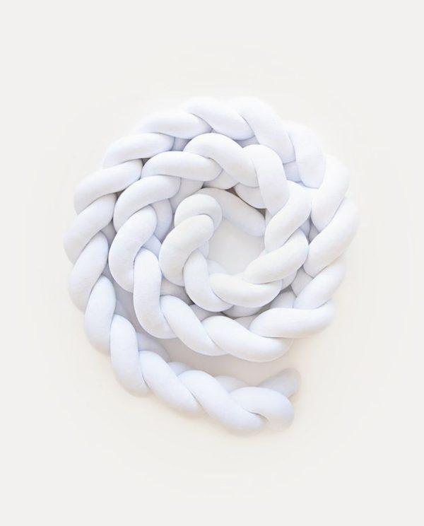 tresse de lit velours blanc