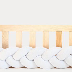 tresse de lit bébé velours blanc