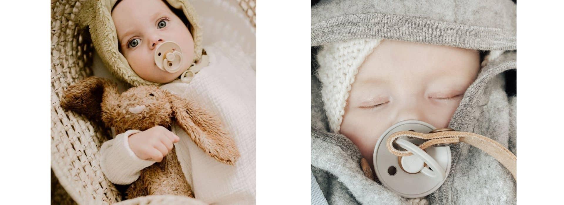 bébés avec sucette bibs