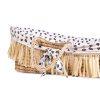 couffin moïse raphia naturel avec matelas & housse jersey léopard childhome (1)