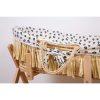 couffin moïse raphia naturel avec matelas & housse jersey léopard childhome (3)