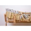 couffin moïse raphia naturel avec matelas & housse jersey léopard childhome (4)
