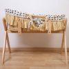 couffin moïse raphia naturel avec matelas & housse jersey léopard childhome (7)