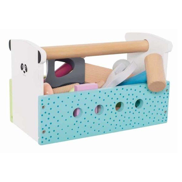Boîte à outils Multicolore en bois pour enfant